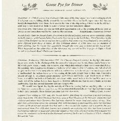Goose Pye for Dinner: Christmas with Some Great Naturalists