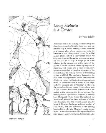 Living Footnotes in a Garden