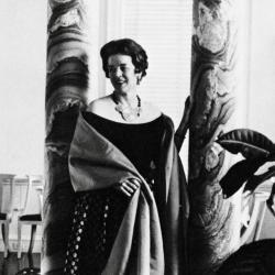 Suzette Morton Davidson at her apartment on Astor St.