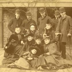 Group portrait at William D. Morton's house in Detroit