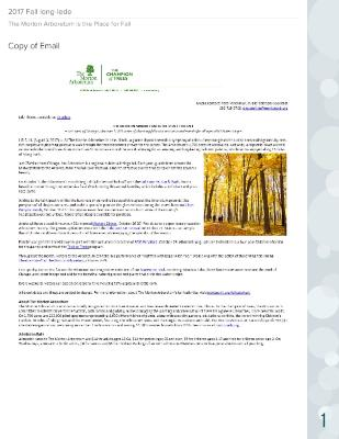 Place for Fall Press Release