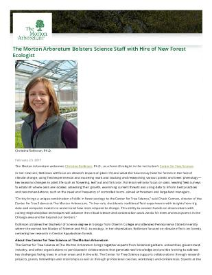 Christine Rollinson Press Release
