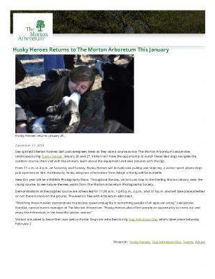 Husky Heroes Press Release
