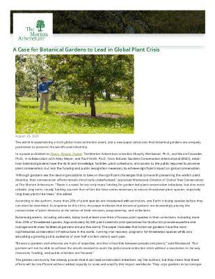 Botanic Garden Leadership in Global Plant Crisis Press Release