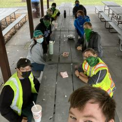 2020 Tree Census field crew having lunch after training