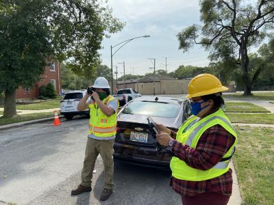 2020 Tree Census field crew taking measurements (4)