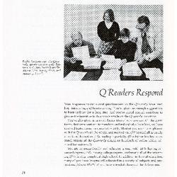 Q Readers Respond