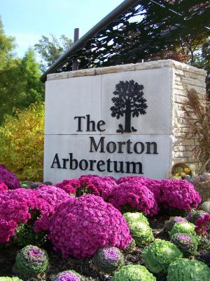 The Morton Arboretum Sign at Entrance