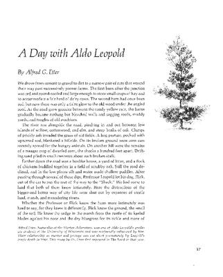A Day with Aldo Leopold
