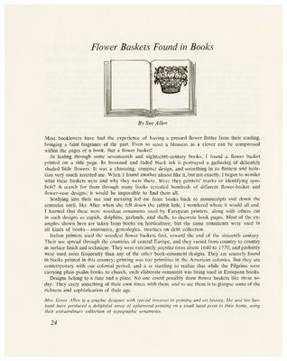 Flower Baskets Found in Books
