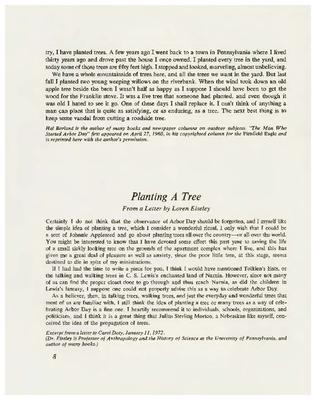 Planting a Tree: From a Letter by Loren Eiseley