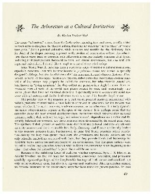 The Arboretum as a Cultural Institution