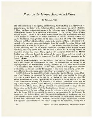 Notes on the Morton Arboretum Library