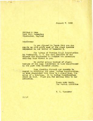 1955/01/07: E. L. Kammerer to Hiller & Sons