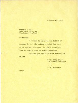 1935/01/18: E. L. Kammerer to Hiller & Sons