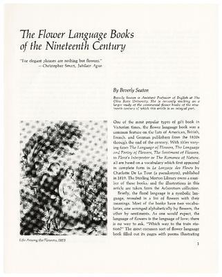 The Flower Language Books of the Nineteenth Century