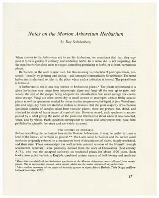 Notes on the Morton Arboretum Herbarium