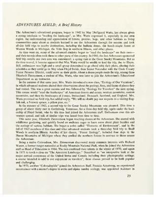 Adventures Afield: A Brief History