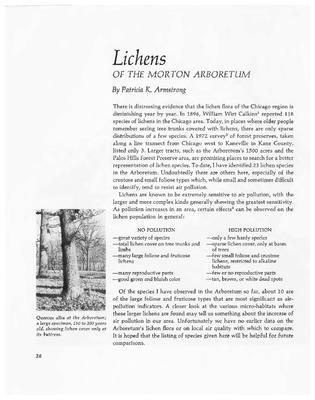 Lichens of The Morton Arboretum