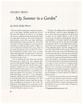 Excerpt from My Summer in a Garden