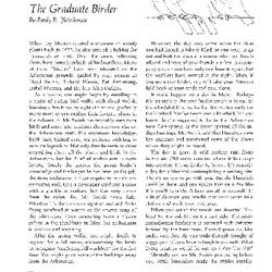The Graduate Birder