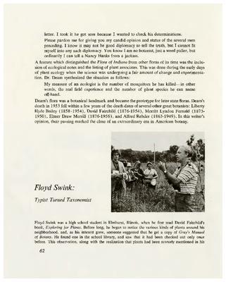 Floyd Swink: Typist Turned Taxonomist