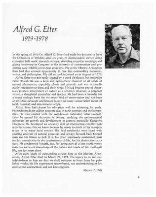 Alfred G. Etter 1919-1978