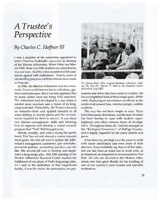 A Trustee's Perspective