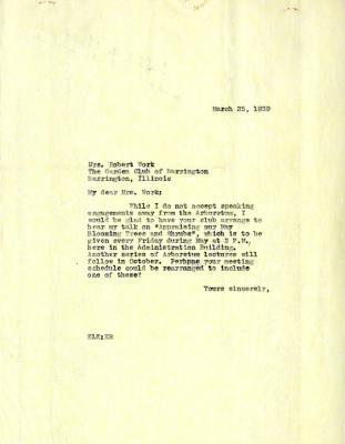 1939/03/25: E. L. Kammerer to Mrs. Ruth Work