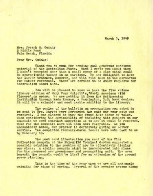 1949/03/03: E. L. Kammerer to Jean Morton Cudahy