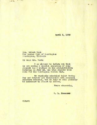 1939/04/03: E. L. Kammerer to Mrs. Ruth Work
