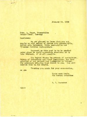 1935/01/14: E. L. Kammerer to Herm. A. Hesse