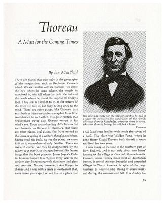 Thoreau: A Man for the Coming Times