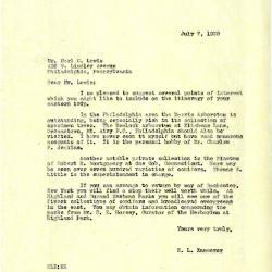 1938/07/07: E. L. Kammerer to Carl C. Lewis