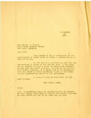 1930/09/08: Clarence E. Godshalk to Daniel E. Wright