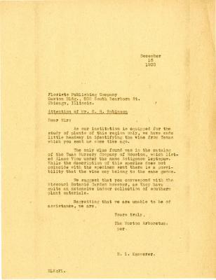 1930/12/15: E. L. Kammerer to E. R. Robinson