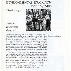 Environmental Education for Fifth-graders