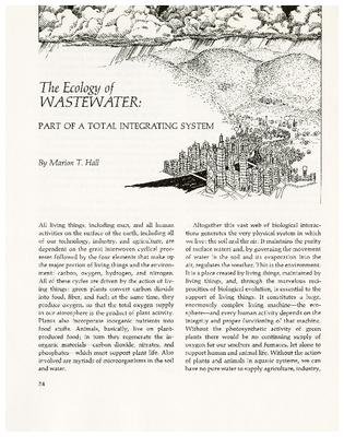 The Ecology of Wastewater: Part of a Total Integrating System