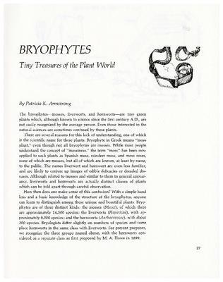 Bryophytes: Tiny Treasures of the Plant World