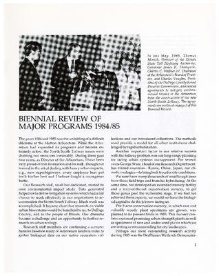 Biennial Review of Major Programs 1984/1985