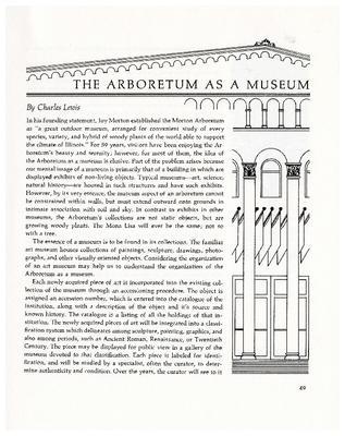 The Arboretum as a Museum