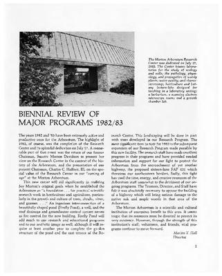 Biennial Review of Major Programs 1982/1983