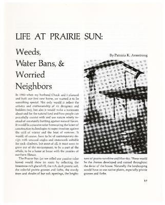 Life at Prairie Sun: Weeds, Water Bans, & Worried Neighbors