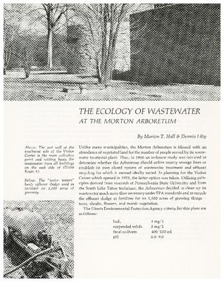 The Ecology of Wastewater at the Morton Arboretum