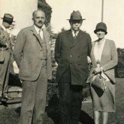 Joy Morton September 27, 1930 photo album: Joy Morton with Sterling Morton and Jean Morton