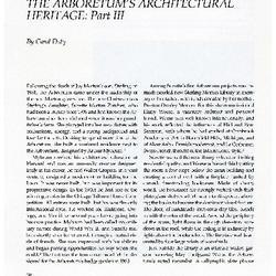 The Arboretum's Architectural Heritage: Part III