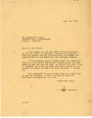 1932/01/21: E. L. Kammerer to Robert Van Tress