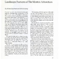 Landscape Features of The Morton Arboretum