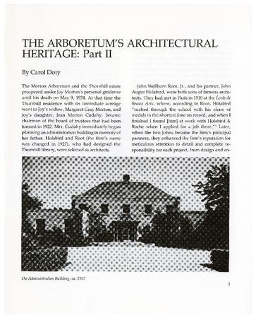 The Arboretum's Architectural Heritage: Part II