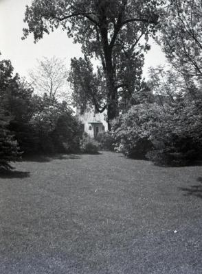 Yard and landscape of Clarence Godshalk's second Arboretum house
